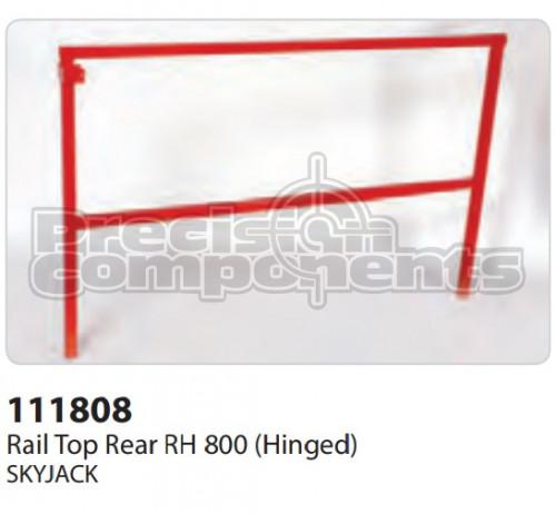 SkyJack Rail Top Rear RH 800 (Hinged) - Part Number 111808