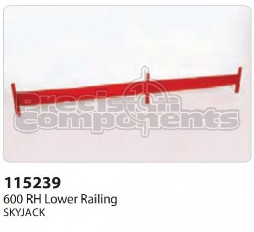 SkyJack 600 RH Lower Railing - Part Number 115239