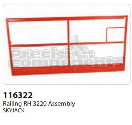 SkyJack Railing RH 3220 Assembly - Part Number 116322