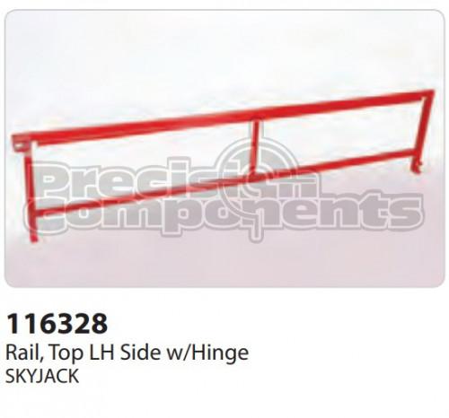 SkyJack Rail, Top LH Side With Hinge - Part Number 116328