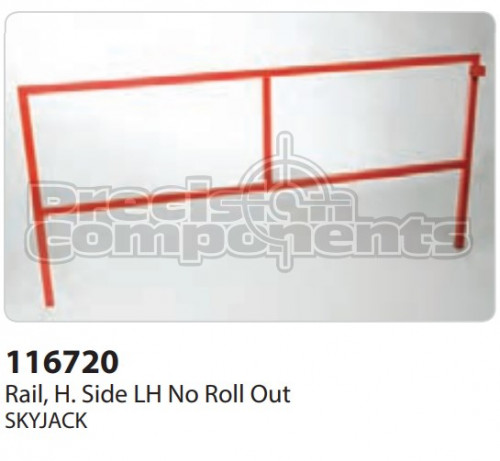 SkyJack Rail, H. Side LH No Roll Out - Part Number 116720