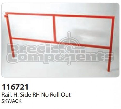 SkyJack Rail, H. Side RH No Roll Out - Part Number 116721