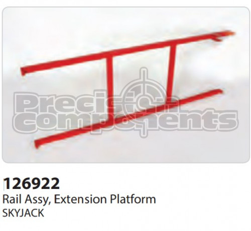 SkyJack Rail Assembly, Extension Platform - Part Number 126922