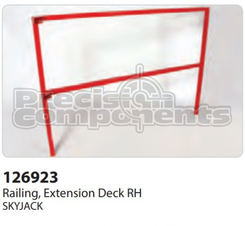 SkyJack Railing, Extension Deck RH - Part Number 126923
