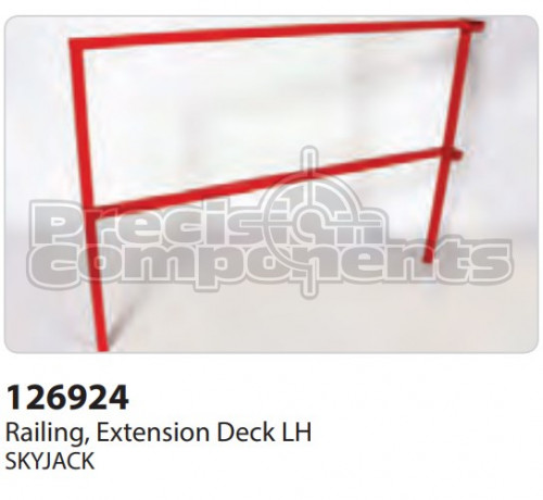 SkyJack Railing, Extension Deck LH - Part Number 126924