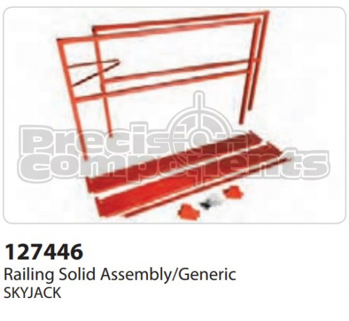 SkyJack Railing Solid Assembly/Generic - Part Number 127446