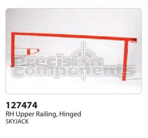 SkyJack RH Upper Railing, Hinged - Part Number 127474