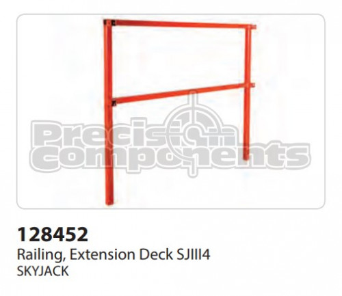 SkyJack Railing, Extension Deck SJIII4 - Part Number 128452