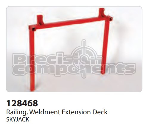 SkyJack Railing, Weldment Extension Deck - Part Number 128468
