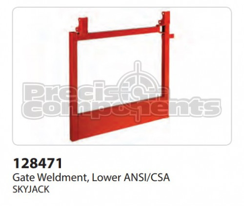 SkyJack Gate Weldment, Lower ANSI/CSA - Part Number 128471