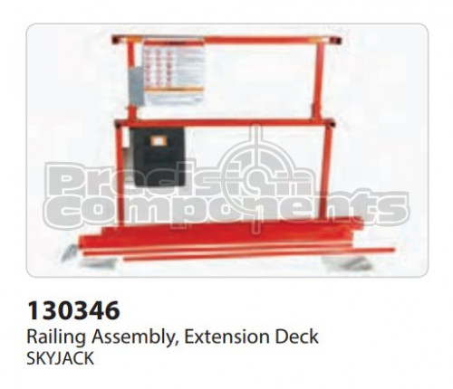 SkyJack Railing Assembly, Extension Deck - Part Number 130346