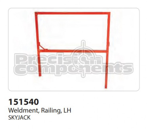 SkyJack Weldment, Railing, LH - Part Number 151540