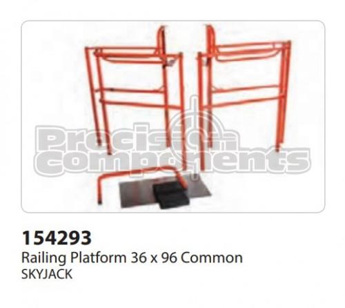 SkyJack Railing Platform (36 x 96) Common - Part Number 154293