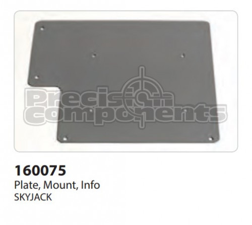 SkyJack Plate, Mount, Info - Part Number 160075